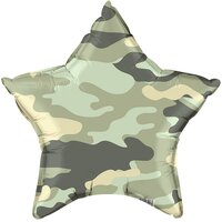 Шарик-звезда зеленый камуфляж