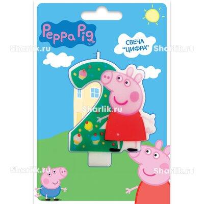 Свеча фигурная Свинка Пеппа цифра 2