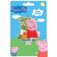 Свеча фигурная Свинка Пеппа цифра 3