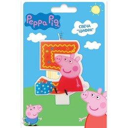 Свеча фигурная Свинка Пеппа цифра 5
