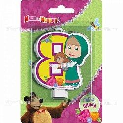 Свеча фигурная Маша и Медведь цифра 8