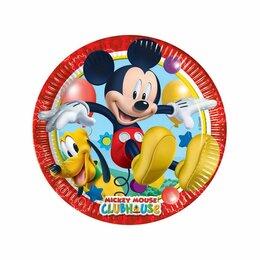 Тарелки Микки Маус бумажные 20 см 8 шт