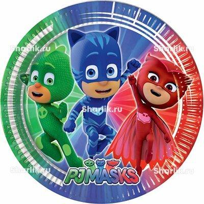 Тарелки с персонажами Герои в масках