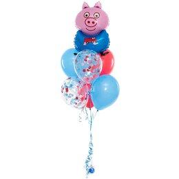 Фонтан из шаров с Джорджем, м/ф Свинка Пеппа