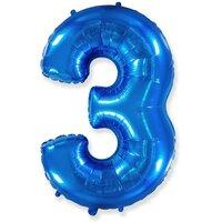 Шар-цифра 3, Синий