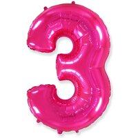 Шар-цифра 3, Розовый