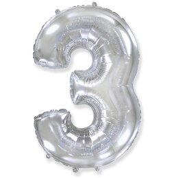 Шар-цифра 3, Серебряный