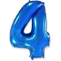 Шар-цифра 4, Синий