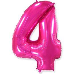 Шар-цифра 4, Розовый