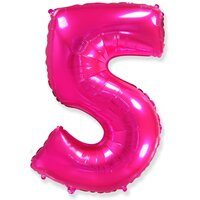 Шар-цифра 5, Розовый