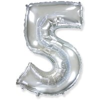Шар-цифра 5, Серебряный