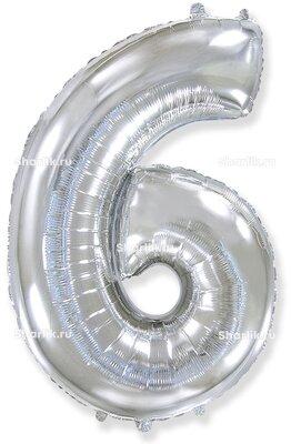 Шар-цифра 6, Серебряный