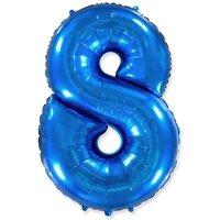 Шар-цифра 8, Синий