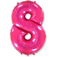 Шар-цифра 8, Розовый