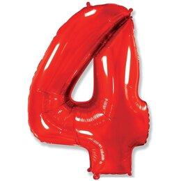 Шар-цифра 4, Красный