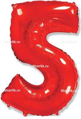 Шар-цифра 5, Красный