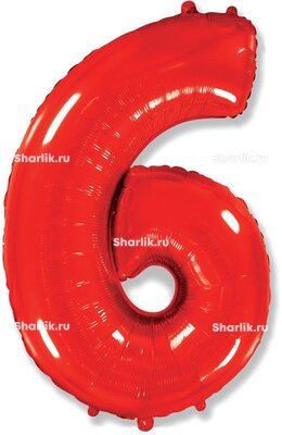 Шар-цифра 6, Красный