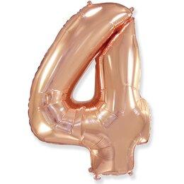 Шар-цифра 4, Розовое золото