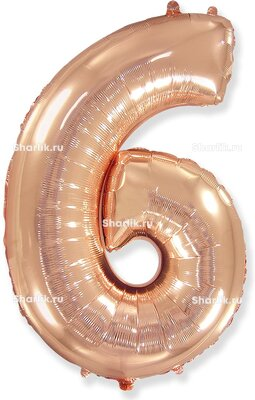 Шар-цифра 6, Розовое золото