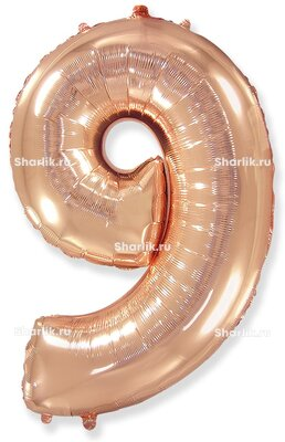 Шар-цифра 9, Розовое золото