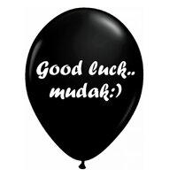 Шар с надписью Good luck mudak